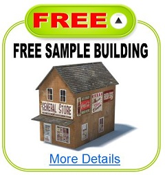 free model railroad buildings