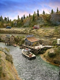 making scenery for model railroads - rivers