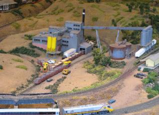 industry scene on model railroad